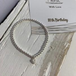 '18th Birthday' Beaded Charm Bracelet