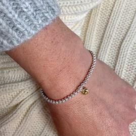 '30th Birthday' Beaded Charm Bracelet