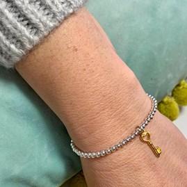 '21st Birthday' Beaded Charm Bracelet