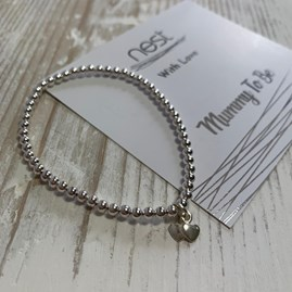 'Mummy To Be' Beaded Charm Bracelet