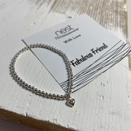 'Fabulous Friend' Beaded Charm Bracelet