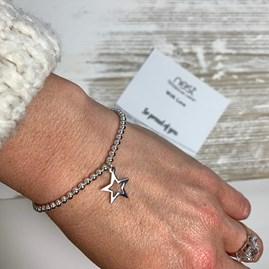 'So Proud Of You' Beaded Charm Bracelet