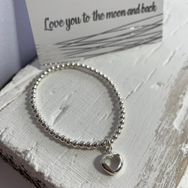 'Love You To The Moon And Back' Beaded Charm Bracelet