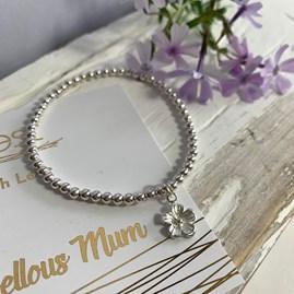 'Marvellous Mum' Beaded Charm Bracelet