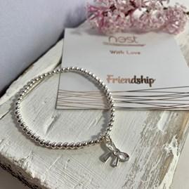 'Friendship' Beaded Charm Bracelet