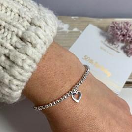 '50th Birthday' Beaded Charm Bracelet