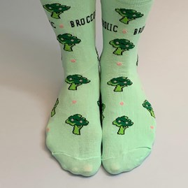 'Broccoholic' Socks