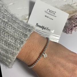 'Beautiful Friend' Beaded Charm Bracelet