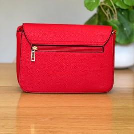 Fold Over Cross Body Bag in Red