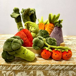Jellycat Vivacious Vegetable Pea Soft Toy