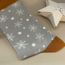 Bamboo Snowflakes Socks in Silver