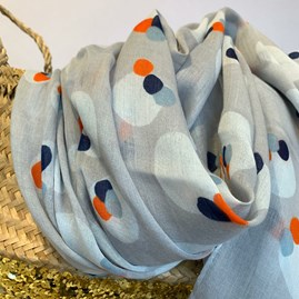 Painted Splodges Scarf In Grey