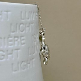 Personalised Turtle Charm Sterling Silver Necklace