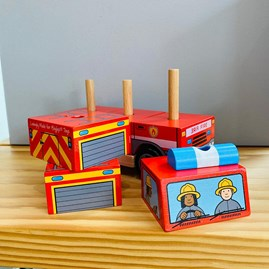 Wooden Stacking Fire Engine Toy