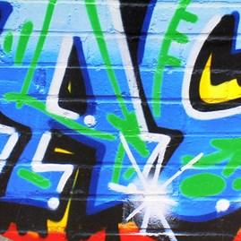 Personalised Blue Graffiti Wall Stickers