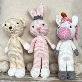 Crochet Mini Teddy Soft Toy