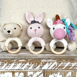 Crochet Ring Rattle Bunny