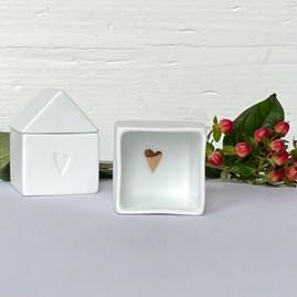 Small Porcelain House Treasures Box