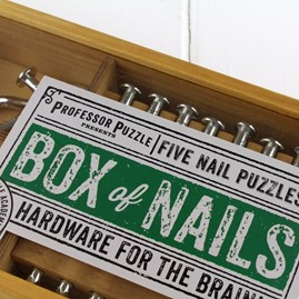 Box Of Nails Set Of Five Nail Puzzles