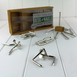 Box Of Nails Set Of Five Nail Puzzles