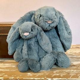 Jellycat Bashful Dusky Blue Bunny Medium Soft Toy