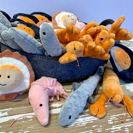 Jellycat Sensational Seafood Mussel Soft Toy