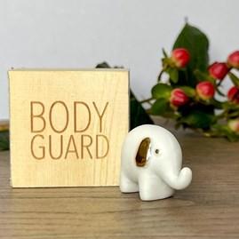 Porcelain Elephant 'Bodyguard' in Box