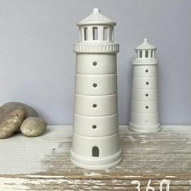 Porcelain Lighthouse Tealight Holder