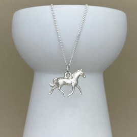 Personalised Horse Sterling Silver Necklace