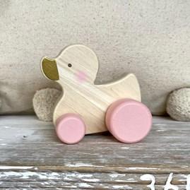 Bambino Wooden Push Toy Duck