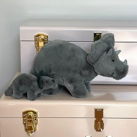 Jellycat Fossilly Triceratops Mini Soft Toy