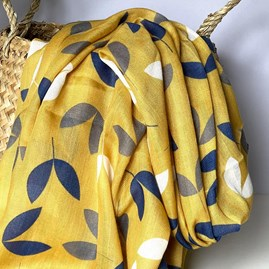 Little Leaves Scarf in Yellow