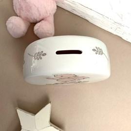 Jellycat Bashful Pink Bunny Money Box