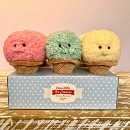 Jellycat Irresistible Ice Cream Mint Soft Toy