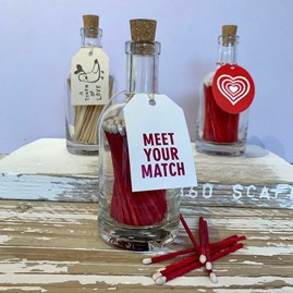 'Love' Matches In A Glass Jar