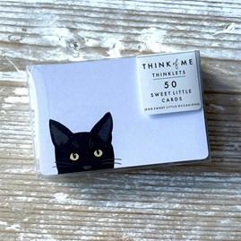 Black Cat Thinklet Cards Pack of 50