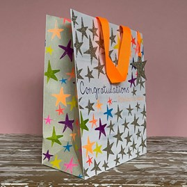 'Congratulations' Stars Medium Gift Bag
