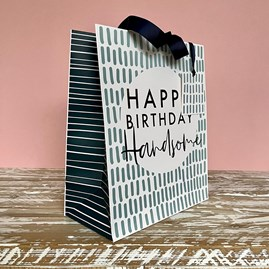 'Happy Birthday Handsome' Large Gift Bag