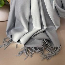 Super Soft Plain Pashmina Tassel Scarf in Light Grey