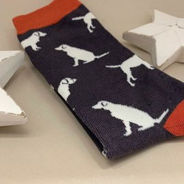 Men's Bamboo Labrador Socks in Grey