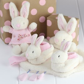 Soft White Rabbit Rattle Newborn Baby Toy