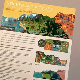 Children's 'My Animal World' Sticker Activity Set