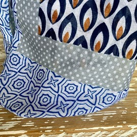 Drops Print Scarf In Blue