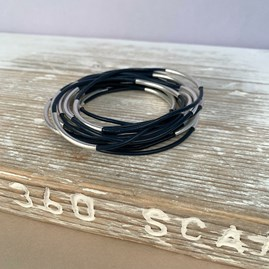 Personalised Leather And Metal Bangles