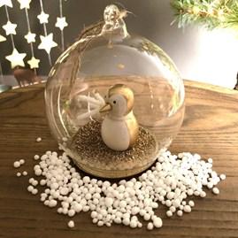 Golden Penguin In A Snow Globe