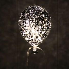 Hanging Mirrored Metallic Balloon Lights