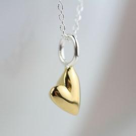 Devotion Polished Gold Heart Necklace
