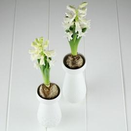 Porcelain Bulb Vase And Tea Light Holder With Dots