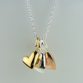 Devotion Triple Heart Necklace
