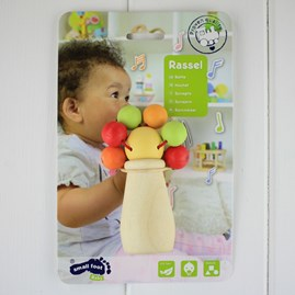 Wooden Rattle For Baby Fun Ball